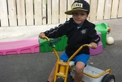 Brooklyn Grigg, 5, lost his life after becoming pinned under his quad bike in a creek on his family's section.