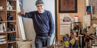 John Reynolds, pictured in his home studio August 2016, says most artists have talent, what they need is stamina.PHOTO Ted Baghurst