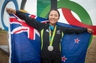 New Zealand's Lydia Ko wins silver in the womens golf.