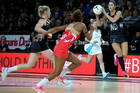 New Zealand's Kayla Cullen in the Netball Quad Series against England. Photo / www.photosport.nz