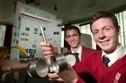 John Paul College students Josh Webb, (left) and Christian James won several awards at the  Niwa BOP Science and Technology Fair in Rotorua.