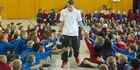 Watch: Kane Radford visits his old school