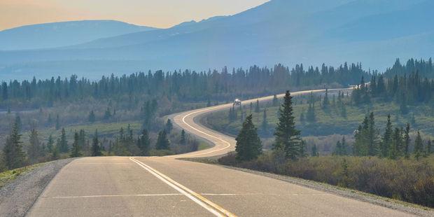 Driving through Denali National Park. Photo / 123RF