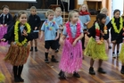 Dannevirke South School's 5- and 6-year-olds come together for the first time in rehearsal for their annual show which opens at the Town Hall on September 14. Photo / Christine McKay