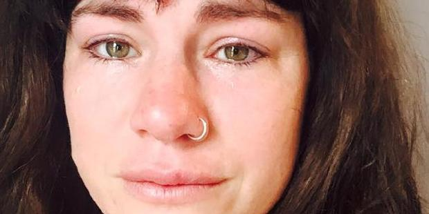 Constance Hall uploaded a photo of herself crying.