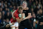 All Blacks lock Brodie Retallick and his mates have reduced Welsh rugby to an asterisk in the game's history. Picture / Brett Phibbs