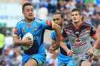 Fans flocked to see Jarryd Hayne's return to the NRL for the Titans against the Warriors earlier this month. Photo / Photosport.