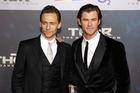 Actors Tom Hiddleston and Chris Hemsworth attend the 'Thor: The Dark World' premiere. Photo / Getty
