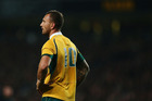 Quade Cooper during last year's match between the All Blacks and the Wallabies. Photo / Getty
