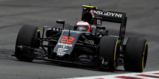 Jenson Button of Great Britain driving the McLaren Honda Formula 1 Team McLaren MP4-31 Honda RA616H Hybrid turbo. Photo / Getty