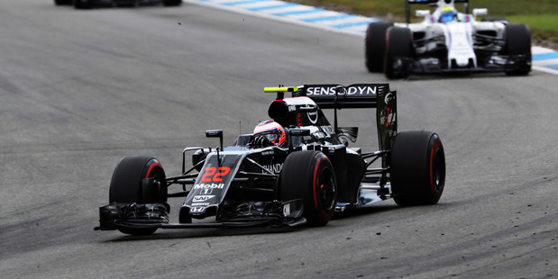 Jenson Button during the German Grand Prix. Photo / Getty Images