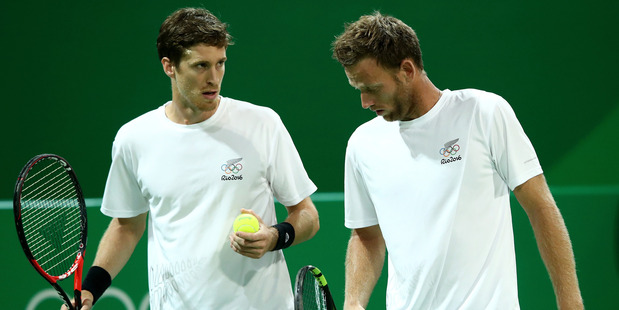 Marcus Daniell and Michael Venus during the Rio Olympics. Photo / Getty Images