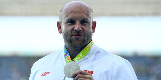 Silver medalist Piotr Malachowski of Poland. Photo / Getty