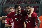 Bayern Munich pair Xabi Alonso (left) and Arturo Vidal. Photo / Getty Images