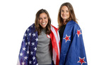 Nikki Hamblin and Abbey D'Agostino. Photo / Getty Images