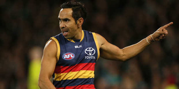 Crows star Eddie Betts was the subject of an apparently racist taunt. Photo / Getty