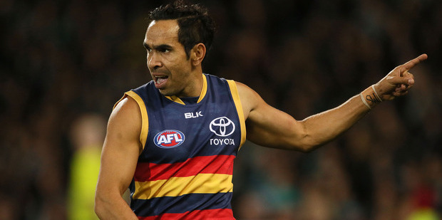 Crows star Eddie Betts was the subject of an apparently racist taunt. Photo / Getty Images