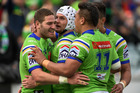 Canberra Raiders captain Jarrod Croker went past Clinton Schifcofske's 2001 club record of 245 points in a season during his side's defeat of the Eels on Sunday. Photo / Getty Images