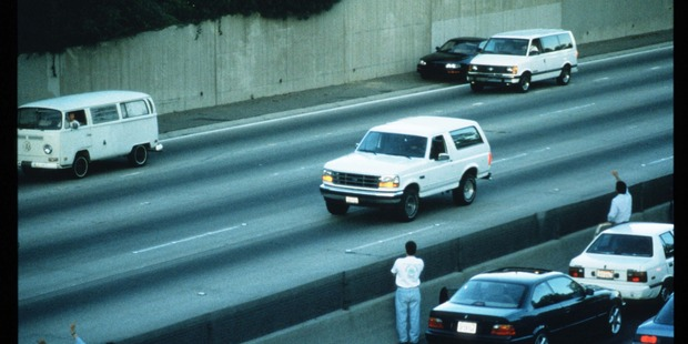 The white Bronco that carried murder suspect OJ Simpson on a police pursuit in Los Angeles will soon go on display at a new prison museum in Tennessee. Photo / Getty Images