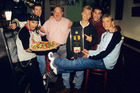 Lou Pearlman poses with N'Sync's Chris Kirkpatrick, JC Chasez, Lance Bass, Joey Fatone and Justin Timberlake, circa 1996. Photo / Getty Images