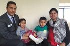 Pardeep Singh with his son Karamveer, nephew Manraj and wife Mandeep Kaur. PHOTO/SARAH HARRIS