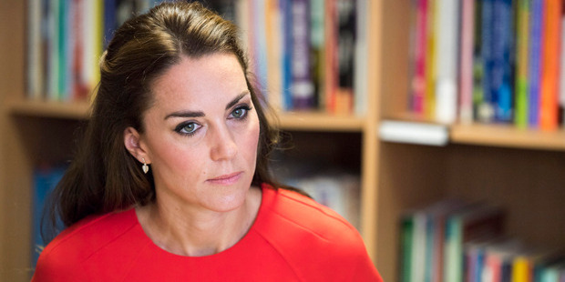 At a visit to a charity that runs a helpline for parents, Kate Middleton said it is vital for parents to have access to support. Photo / Getty