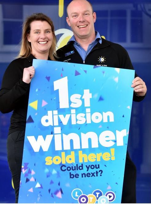 The Lotto winners are regular customers of South Dunedin Night 'n Day store owners Katie and Murray Devereux. Photo / Otago Daily Times