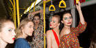 Viva photographer Guy Combes climbed aboard a bus with models headed to the Miss Crabb show last night. Photo / Guy Combes