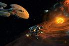 A scene from the video game Star Trek: Bridge Crew.