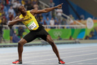 It turns out one of Usain's Bolt's final athletic acts in an Olympic Stadium would be throwing a javelin, not sprinting. Photo / AP