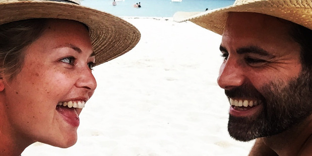 Sarah Gandy with husband Luke Haigh in Mexico. Photo / Supplied