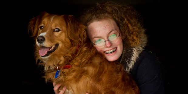 Loren Skudder-Hill with her dog Pippi. PHOTO/STEPHEN PARKER