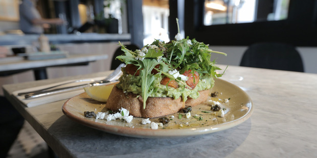 Smashed avocado. Photo / Doug Sherring