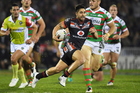 Shaun Johnson admits the Warriors will be cheering for the Panthers this weekend. Photo / photosport.nz