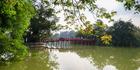 Red Bridge in Hoan Kiem Lake, Hanoi, Vietnam. Photo / 123RF