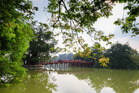 Red Bridge in Hoan Kiem Lake, Hanoi, Vietnam. Photo / 123RF
