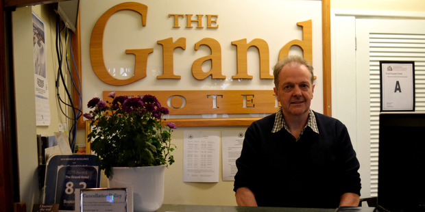 Neville Gorrie and the Grand Hotel, recognising community groups. Photo / Paul Brooks