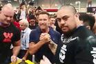 HERO: Rotorua arm wrestling champion Maateiwarangi Heta-morris met Arnold Schwarzenegger at Arnold Asia in Hong Kong. PHOTO/SUPPLIED