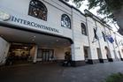 The InterContinental Hotel, where a bug was found in the All Blacks team meeting room. Photo / Brett Phibbs