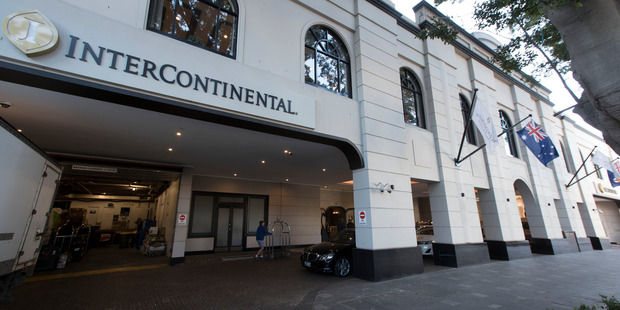 The Intercontinental hotel at Double Bay, where a bug was found in the All Blacks' team meeting room, prior to the first Bledisloe test match against the Wallabies.