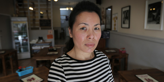 Loading Jenny Li who was assaulted at her business Dumpling Ace in Northcote. Photo / Doug Sherring