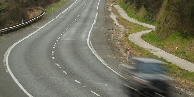 The scene of Sunday's fatal crash on State Highway 5 south of Rotorua.
