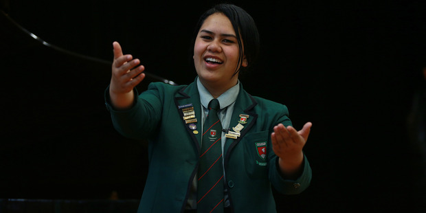 Loading Opera singer Emeline Mafi, a student of Aorere College, Auckland, will be competing tonight. Photo / Doug Sherring