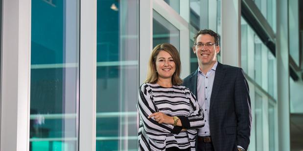 Lara Poloni, Aecom chief executive Australia and New Zealand, and  Craig Davidson, Aecom managing director.