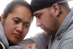Ene and Karamana Mikaere (right) stay strong for their daughter, Valencia. PHOTO/STEPHEN PARKER