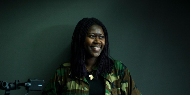 Loading Former refugee Adorate Mizero who is working on a film project where she is interviewing Kiwi teens about racism. 25 August 2016 New Zealand Herald Photograph by Dean Purcell.