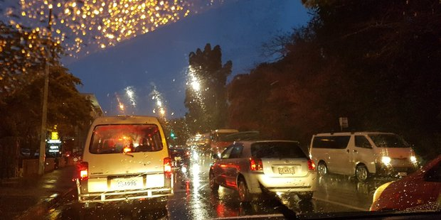 A steady stream of rain has hit Auckland over the past two days. Photo / Justin Hygate
