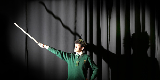 Whanganui High School's VIncent Collins will be performing in Shakespeare's Julius Caesar in Dunedin next month.
