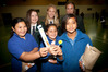 Aquinas College students Laura Sanders 17, Molly Thornton 16, and Aimee Elliott 17, with Merivale School students Waiata-Aroha Hemopo, Inoia Elder, and Tyler-Rose Reid Rolleston. Photo/Andrew Warner