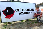 NEW BEGINNING: Nandor Pijnaker on his first day at the Ole Football Academy in Wellington.